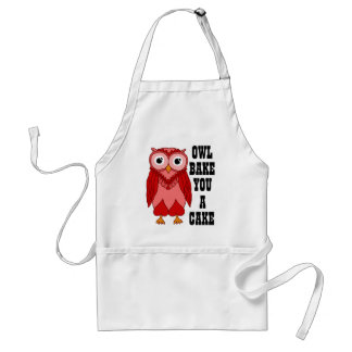 Red Owl Adult Apron