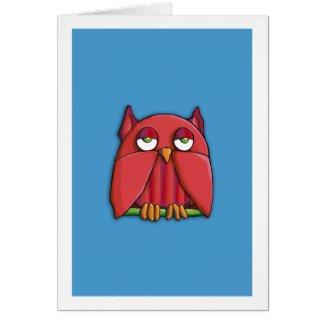 Red Owl aqua Card card