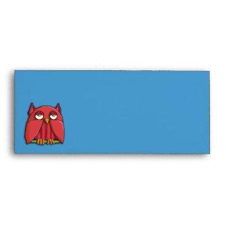 Red Owl aqua Letterhead Envelope envelope