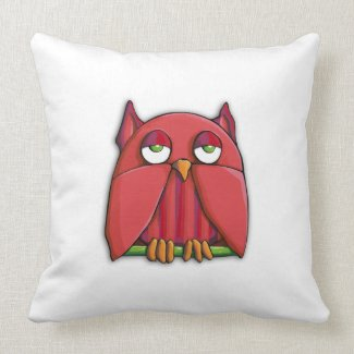 Red Owl Cushion throwpillow