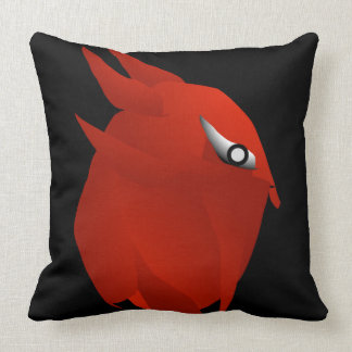 red owl devil bird gym trainer fly high throw pillow