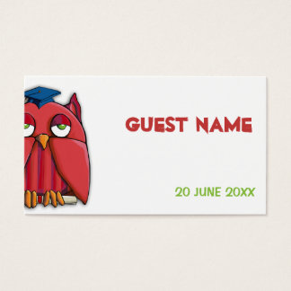 Red Owl Grad Place Card