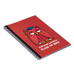 Red Owl Grad red Notebook