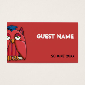 Red Owl Grad red Place Card
