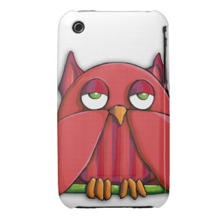 Red Owl iPhone 3G 3GS Case-Mate Barely There™ iPhone 3 Case