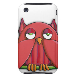 Red Owl iPhone 3G 3GS Case-Mate Tough™ iPhone 3 Tough Cover