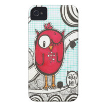 Red Owl iPhone 4 Cover
