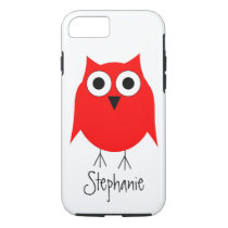 Red Owl Just Add Name iPhone 8/7 Case