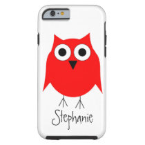 Red Owl Just Add Name Tough iPhone 6 Case