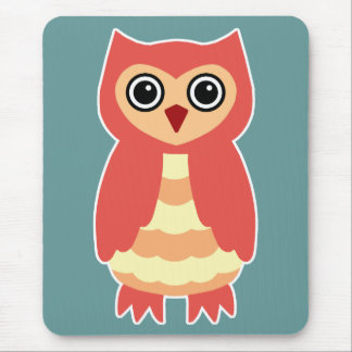 Red Owl Mouse Pad