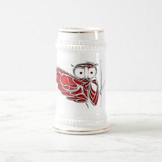 Red Owl on tree Beer Stein