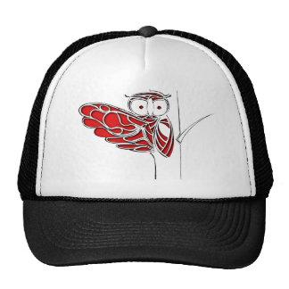 Red Owl on tree Trucker Hat