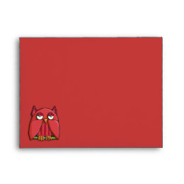 Red Owl red A2 Note Card Envelope
