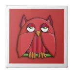 Red Owl red border Tile