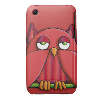 Red Owl red iPhone 3G 3GS Case-Mate Barely There™ iPhone 3 Case-Mate Case