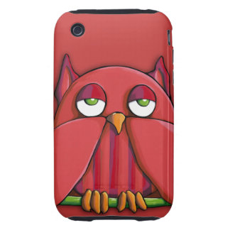 Red Owl red iPhone 3G/3GS Case-Mate Tough™ Tough iPhone 3 Cases