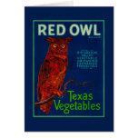 Red Owl Vegetable Label