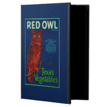 Red Owl Vegetable Label iPad Air Cases