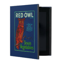 Red Owl Vegetable Label iPad Case