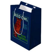 Red Owl Vegetable Label Medium Gift Bag