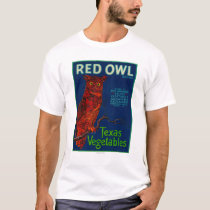 Red Owl Vegetable Label T-Shirt