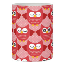 Red Owls Flameless Candle