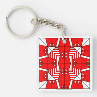 Red Owls Key Chain