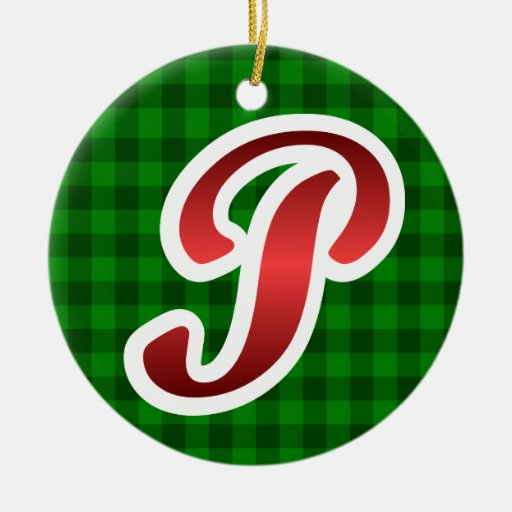 Red P Christmas Ornament