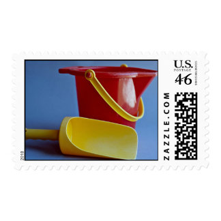Red pail and yellow scoop stamp