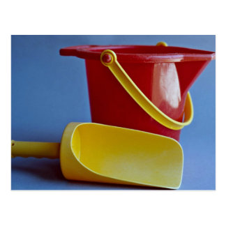 Red pail and yellow scoop postcards