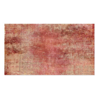Red Paint on Vintage Newspaper Business Card Templates