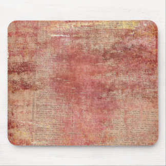 Red Paint on Vintage Newspaper Mouse Pad