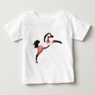 Red Paint Sadllebred Filly rearing Baby T-Shirt
