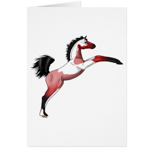 Red Paint Sadllebred Filly rearing Cards