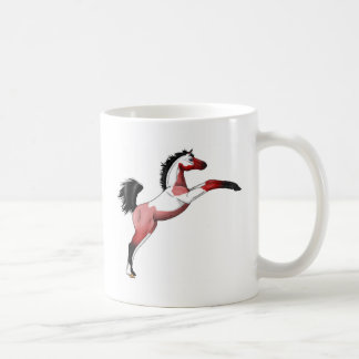 Red Paint Sadllebred Filly rearing Coffee Mugs