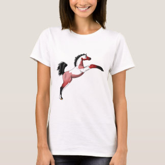 Red Paint Sadllebred Filly rearing T-Shirt