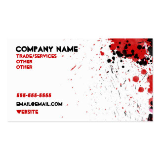 Red Paint Spill Business Card