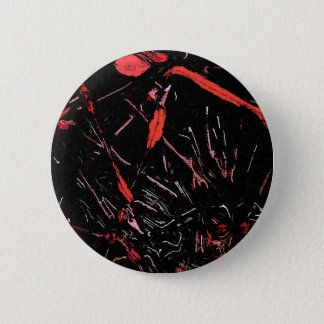 Red paint splashes abstract stains grunge design pinback button