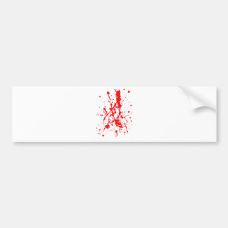 Red Paint Splat Product Bumper Sticker