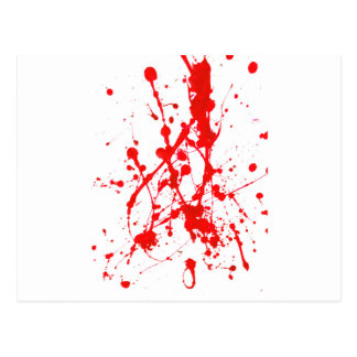Red Paint Splat Product Postcard