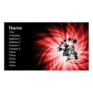Red Paintball Double-Sided Standard Business Cards (Pack Of 100)