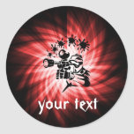 Red Paintball Classic Round Sticker