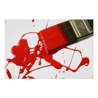 Red paintbrush posters