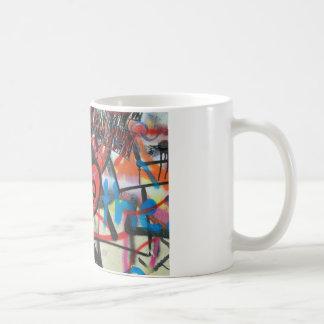red painted heart love graffiti coffee mug