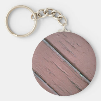 Red painted planks keychains