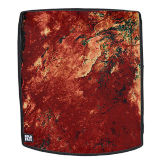 Red Painted Rock Backpack