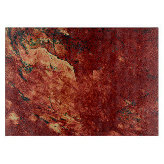Red Painted Rock Cutting Board