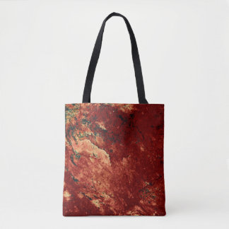 Red Painted Rock Tote Bag