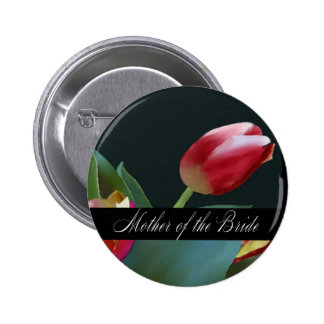 Red Painted Tulip Mother of the Bride Pin
