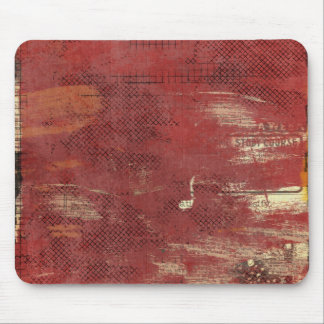 red painted vintage newspaper ads mouse pad